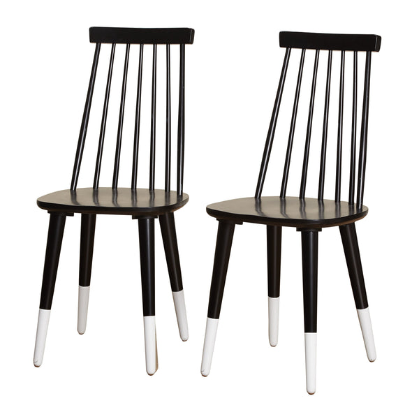 [color] angelo:HOME Dining Chairs - Hermosa set of 2 (black) [variant]
