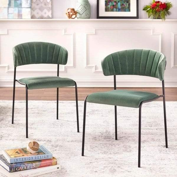 [color] angelo:HOME Dining Chair - Kalmar - set of 2 (green) [variant]