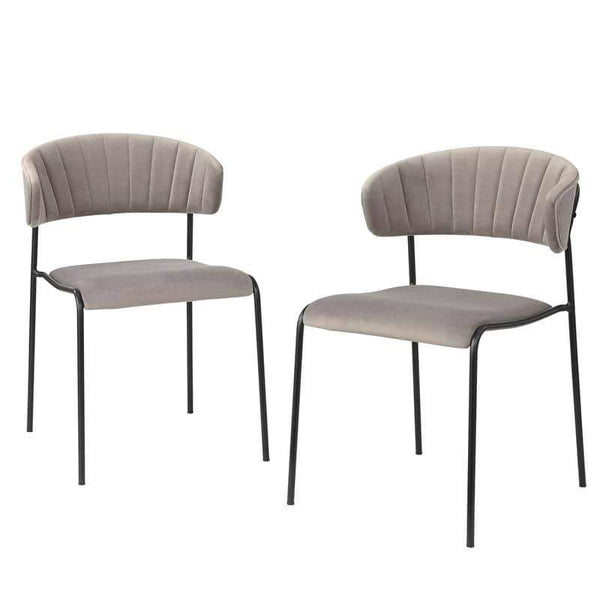 [color] angelo:HOME Dining Chair - Kalmar - set of 2 (grey) [variant]