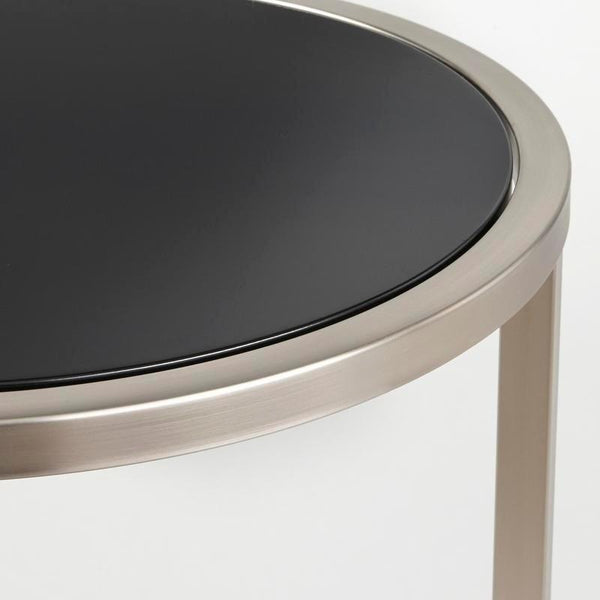[color] angelo:HOME End Table - Mae (black/brushed nickel) [variant]