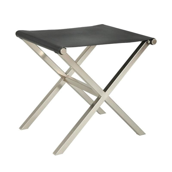 [color] angelo:HOME Ottoman/Stool/Table - Thad (black/nickel) [variant]