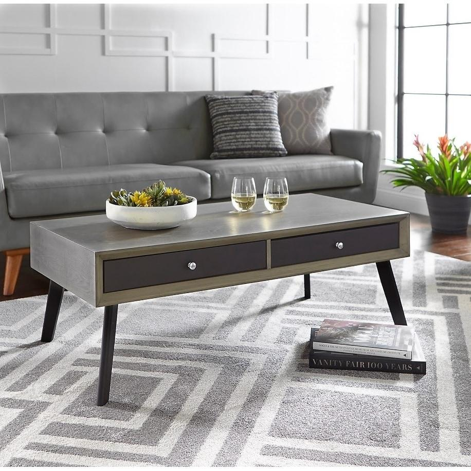 [color] angelo:HOME Coffee Table - Maxwell (grey/black) [variant]