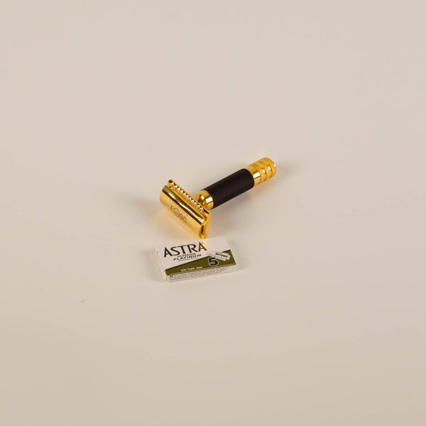 FOSC - Closed Comb Gold & Black Safety Razor