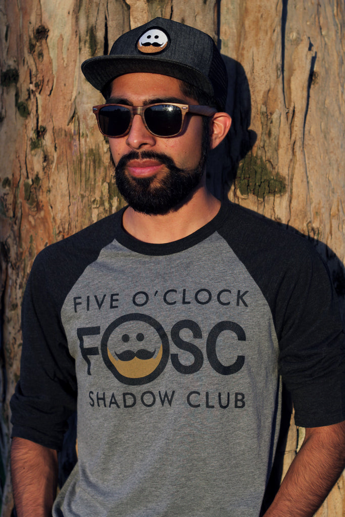 FOSC Grey & Black Baseball T-Shirt