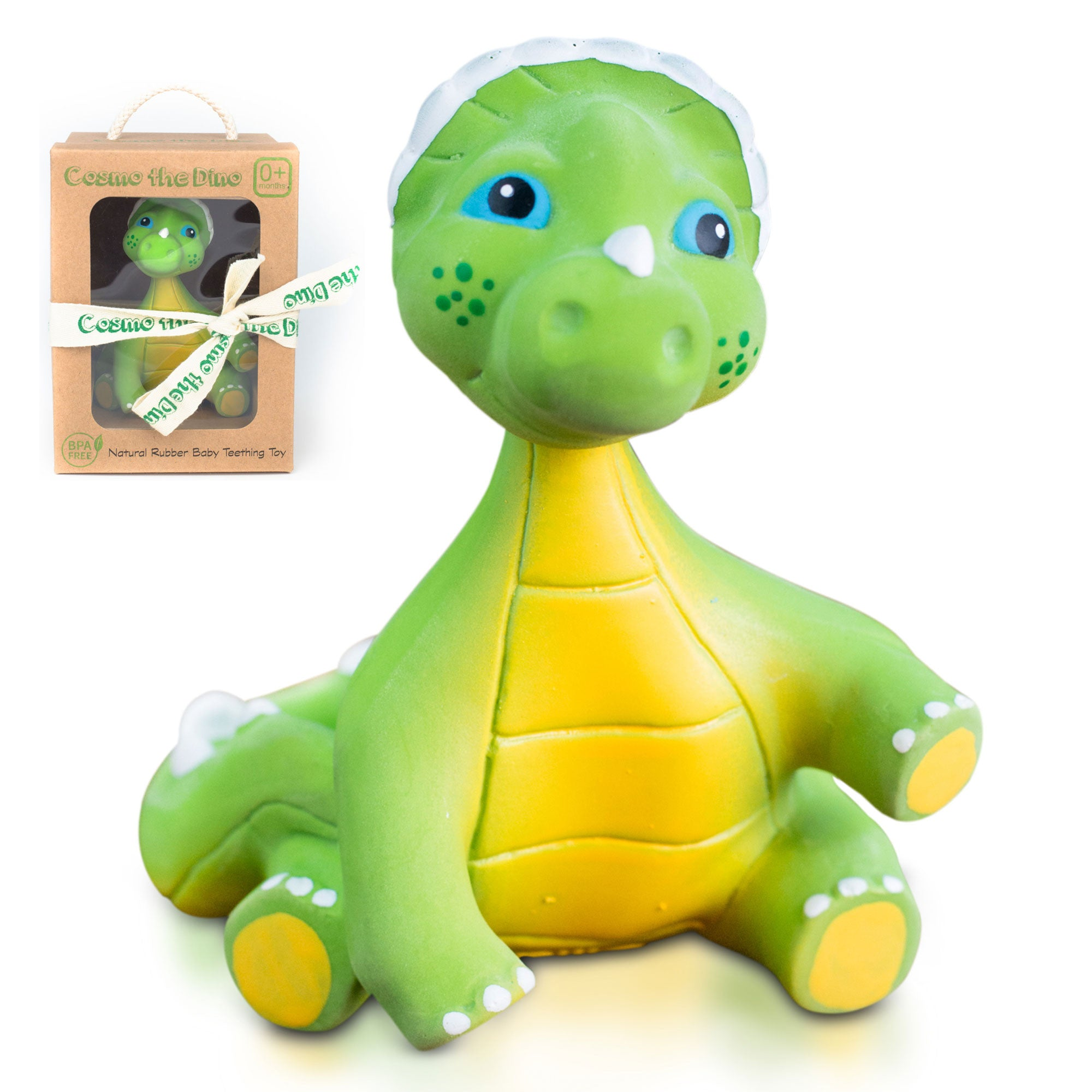 Cosmo the Dino Baby Natural Teether Toy by Pijio with Free Downloadabl