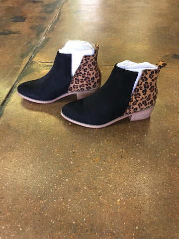Leopard Wedge Booties