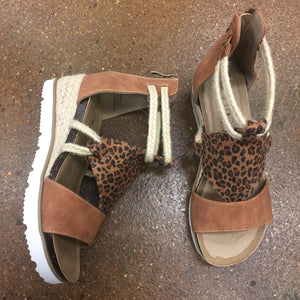 Small Leopard Wedged Sandals