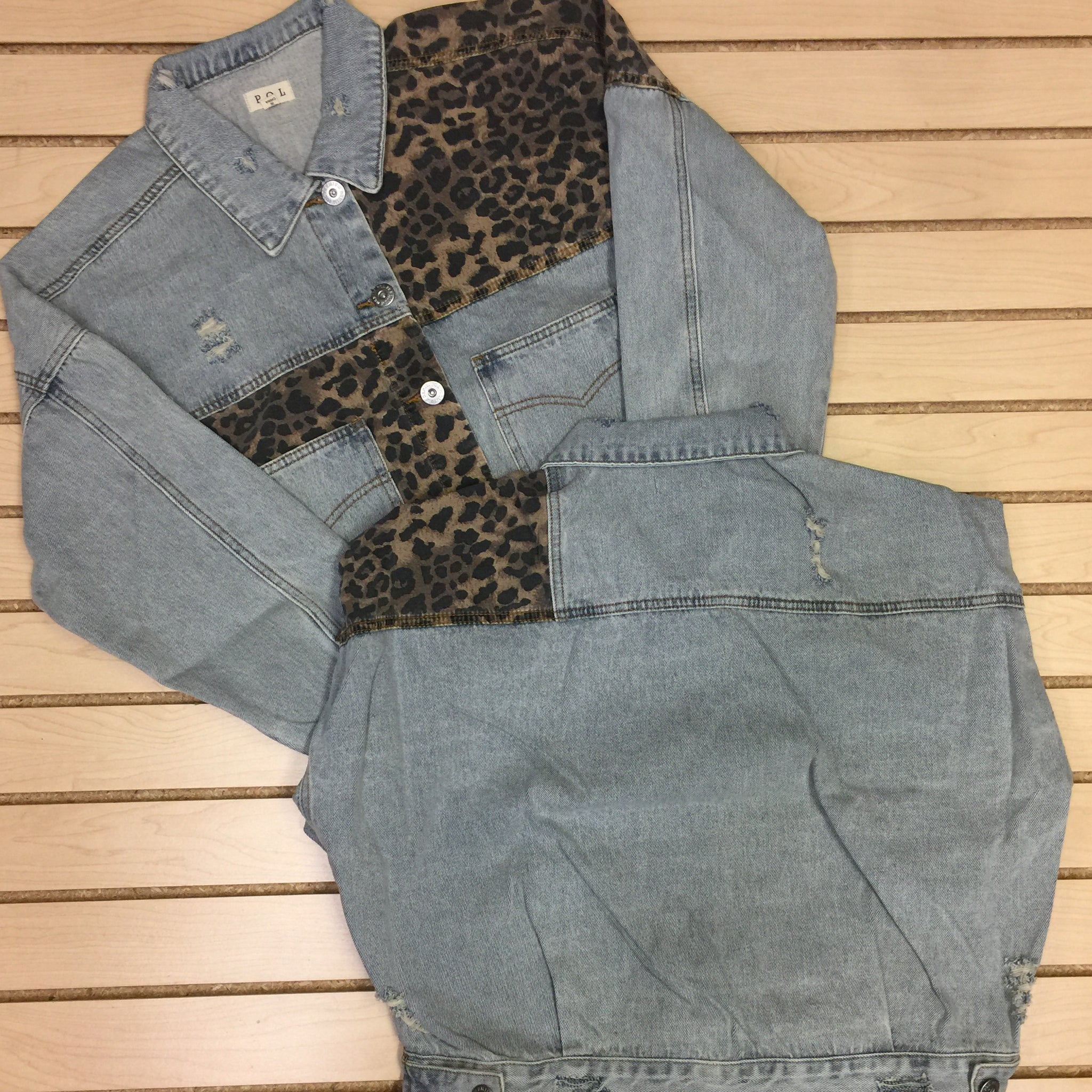Denim & Leopard Jean Jacket