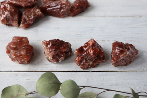 Red Calcite- Chunks