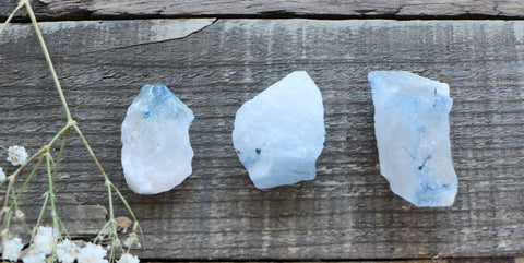 Blue Tourmaline in Quartz - Small Pieces