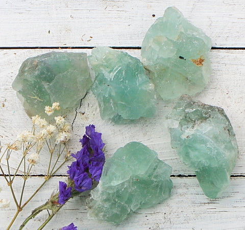 Fluorite - Raw Chunks-  Green