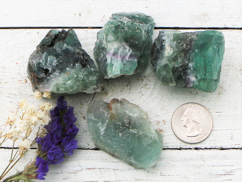 Fluorite - Raw Chunks,  Purple- Green