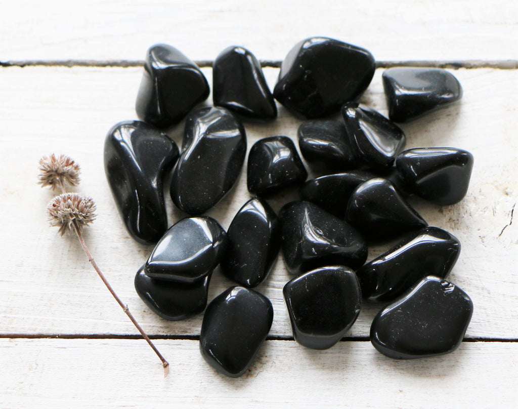 Black Obsidian- Tumbled