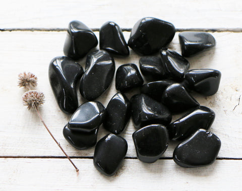Obsidian, Black - Tumbled
