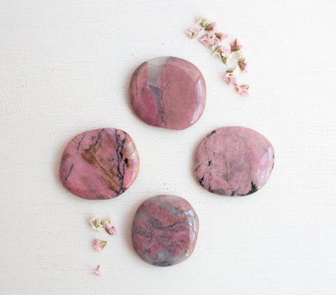 Rhodonite- Palm Stones