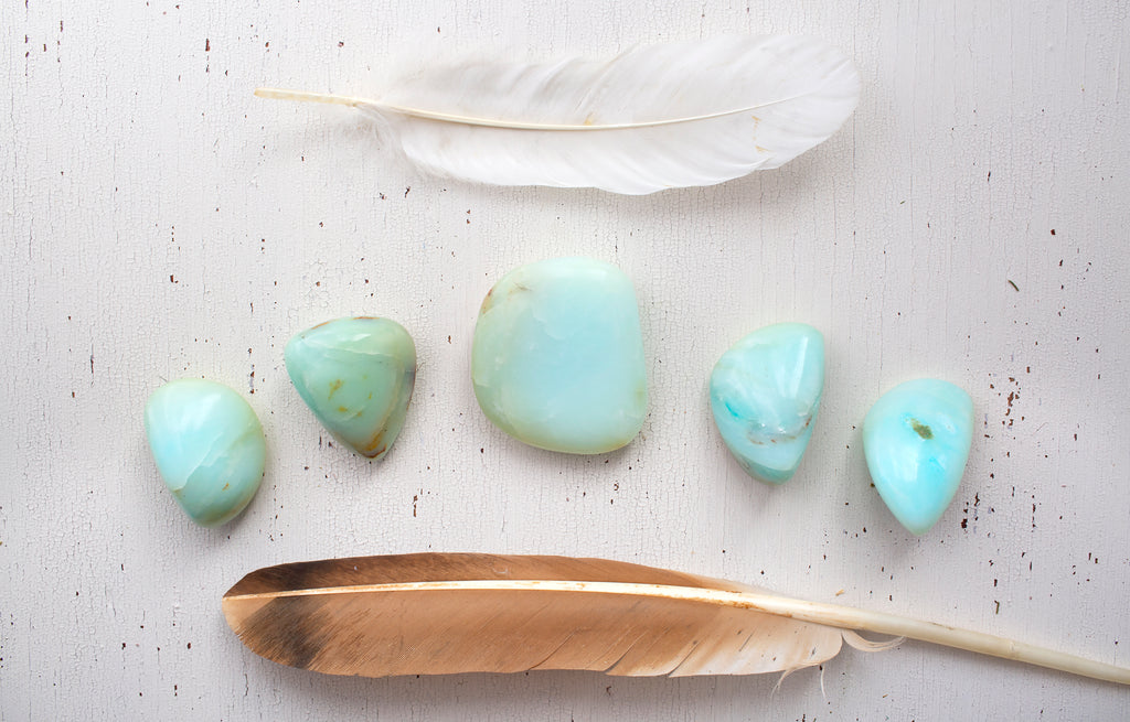 Opal, Blue  - Large Polished Pieces