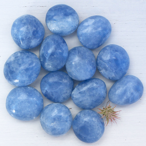 Calcite, Blue - Palm Stones
