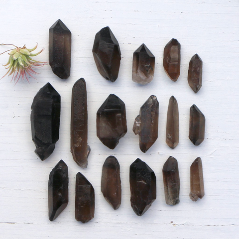 Smoky Quartz - Points, Double Terminated