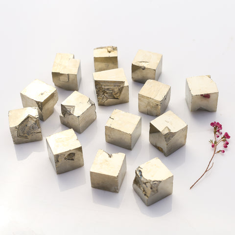 Pyrite, Cubes- Small, Natural, Bulk