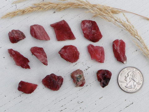 Rhodonite,  Red - Raw