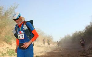 Ultra runner Dave Wise competes at the Marathon Des Sables