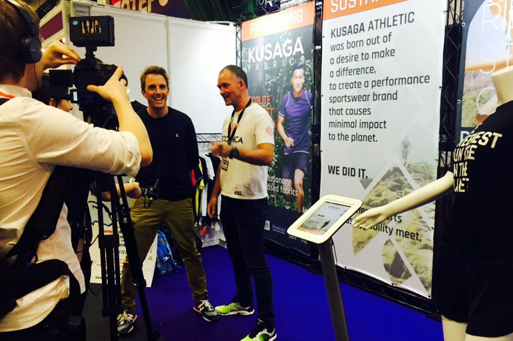 Kusaga Athletic founders Graham Ross and Matthew Ashcroft interviewed at the 220 Triathlon trade show