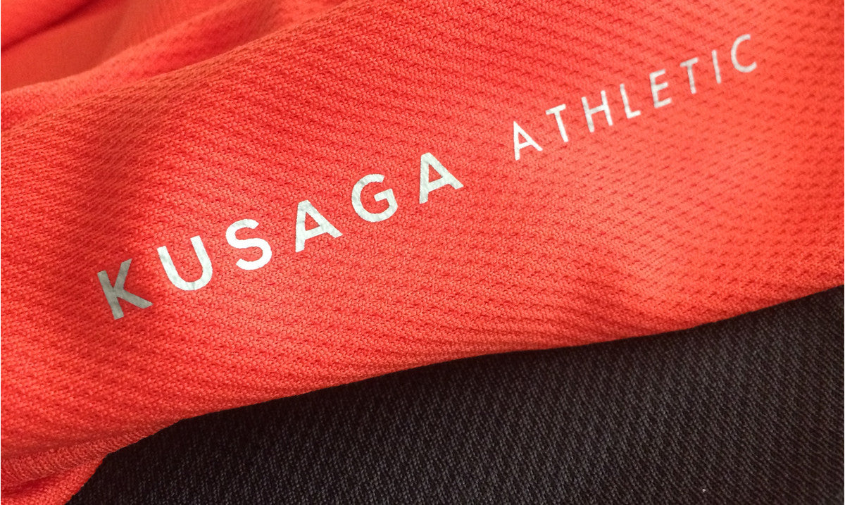 Red ECODRY® fabric with Kusaga Athletic logo