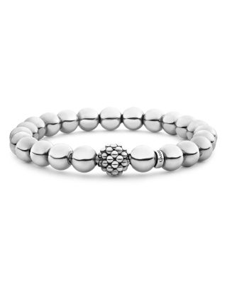 Sterling Silver Signature Caviar Lattice Ball Bracelet - mommyfanatic