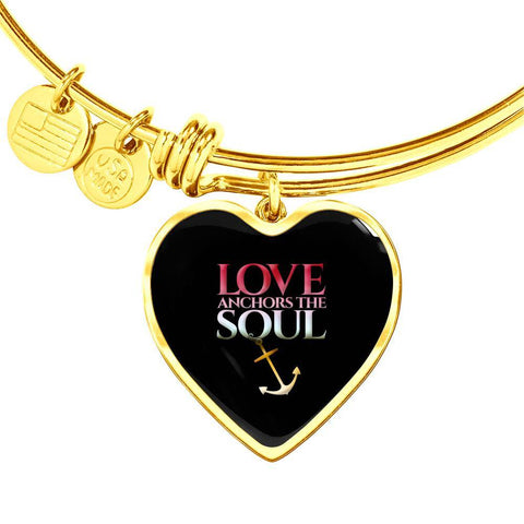 Love Anchors The Soul Pendant