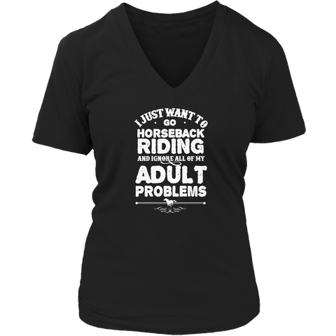 Image of Horseback Riding Ignore Problems TShirt - mommyfanatic