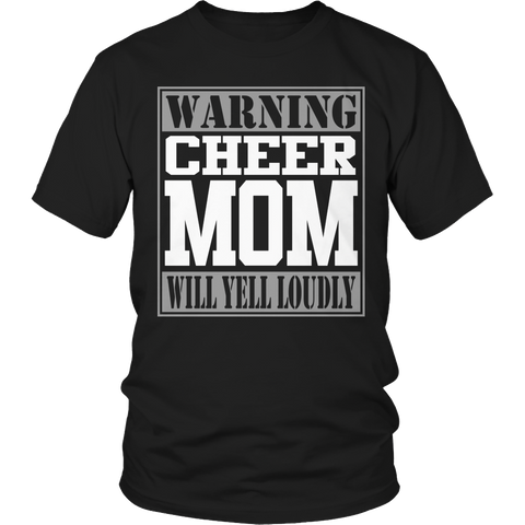 Cheer Mom Will Yell Loudly Tshirt - mommyfanatic