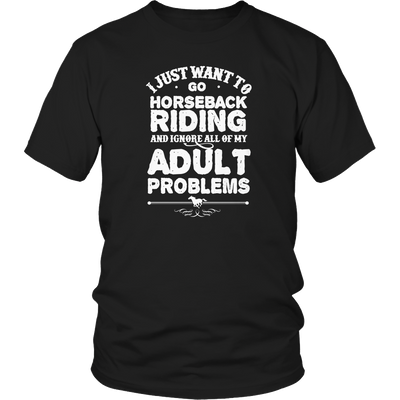 Horseback Riding Ignore Problems TShirt - mommyfanatic