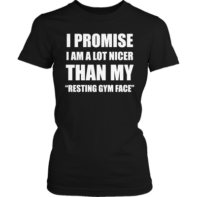 Resting gym face facial muscles & exercises t-shirt - mommyfanatic