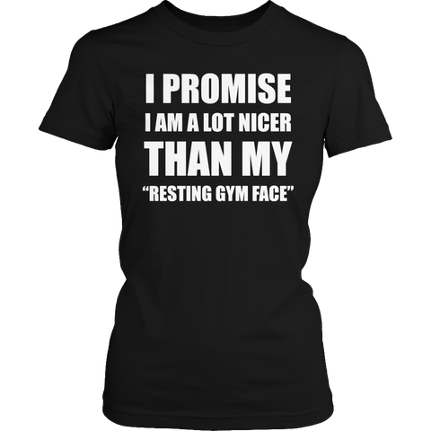 Image of Resting gym face facial muscles & exercises t-shirt - mommyfanatic