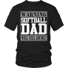 Softball Dad Will Yell Loudly Tshirt - mommyfanatic