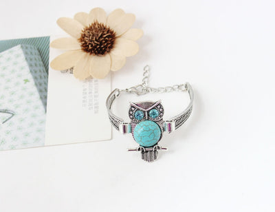 Owl Shaped Chained Bracelet - mommyfanatic