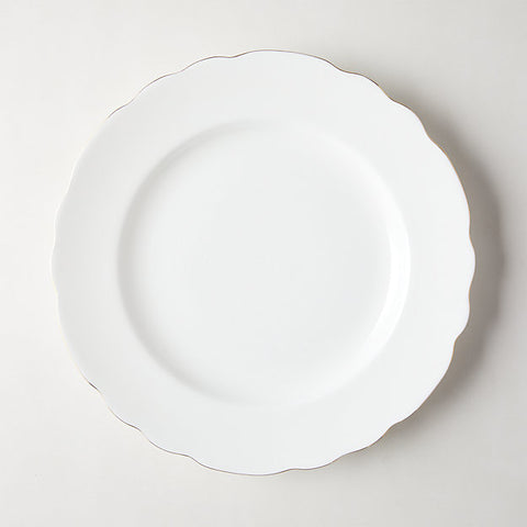 Image of Chelsea White modern contemporary trendy restaurant dinnerware plate - mommyfanatic