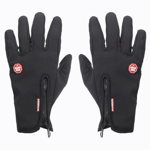 Touch Screen Full Finger Gloves Windproof Bicycle Bike Gloves Winter Outdoor Sports Gloves S M L XL 4 Size Black - mommyfanatic