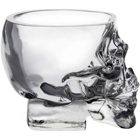 Image of Whiskey, Wine, Vodka Skull Head Shot Glass - mommyfanatic