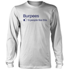 Burpee benefits - burpee crossfit challenge t-shirt - mommyfanatic