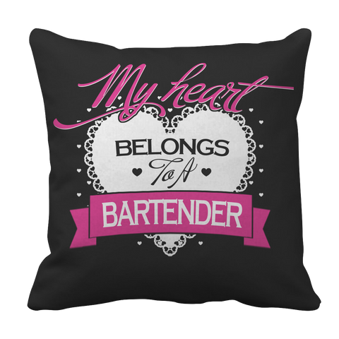 Image of My Heart Belongs to A Bartender Pillowcase - mommyfanatic