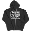 Crossfit Makes Me Happy Hoodie - mommyfanatic