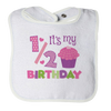 Half Birthday Girl Bib - mommyfanatic
