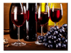 3 Red Wine Glasses & Bottles Wall Art - mommyfanatic