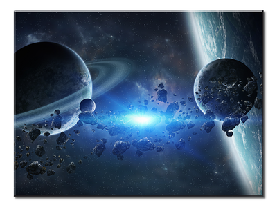 Group Of Planets 2 XL Panel Wall Art - mommyfanatic