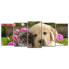 Custom 5 panels dog & cat modern canvas wall art image. Themed decor portrait paintings artwork ideas - mommyfanatic