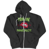 Black halloween plus size unisex costume hoodie apparel & sweatshirts custom horror embroidered with vintage zip up. - mommyfanatic