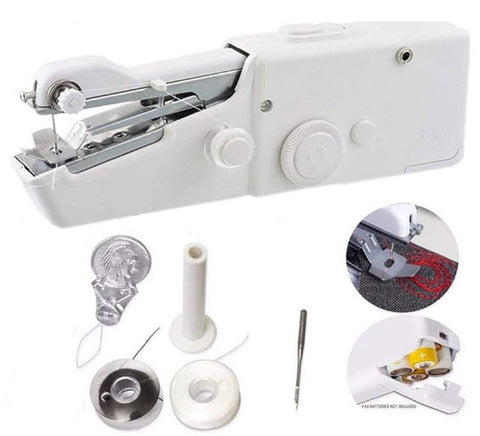 Image of Handheld sewing machine - portable mini sewing machine step by step stitch seamstress tailoring beginner instructions - discount - mommyfanatic