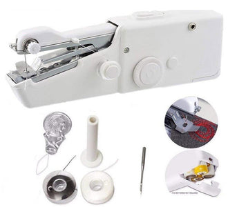 Handheld sewing machine - portable mini sewing machine step by step stitch seamstress tailoring beginner instructions - discount - mommyfanatic