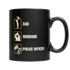 Dad Husband Police Officer Coffee Mug - mommyfanatic